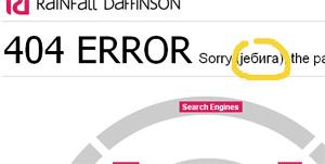Eine gelungene 404-Seite