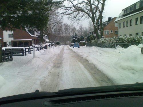 Hard winter in Hamburg